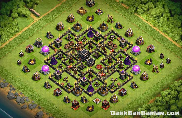 Best Th9 Hybrid Base 2019 Bes Coc Th 9 11
