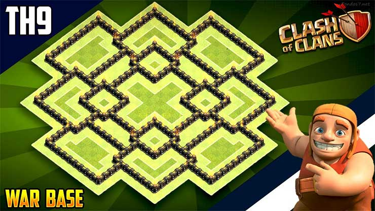 Best Th9 Hybrid Base 2019 Bes Coc Th 9 9