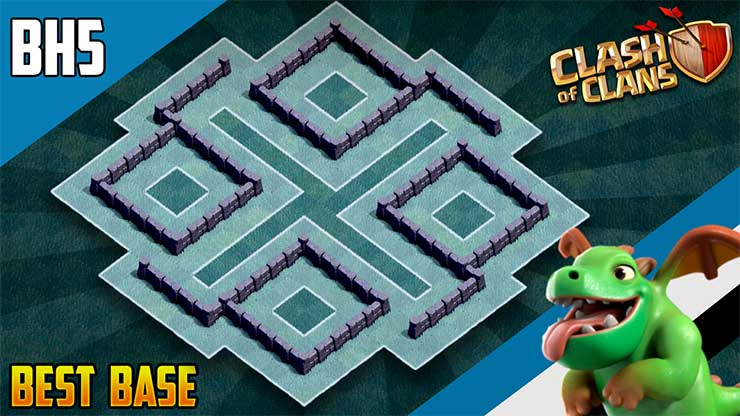 NEW BEST BH5 ANTI GIANT TROPHY[defense] Base 2019 Builder Hall 5 Trophy Base  Design – Clash of Clans – Dark BarBarian