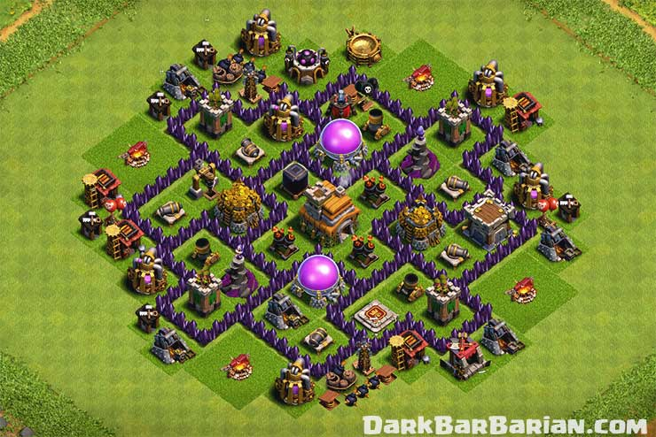 New Ultimate TH7 HYBRID/TROPHY[defense] Base 2019!! Town Hall 7 Hybrid Base  Design - Clash of Clans - Dark BarBarian