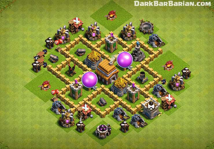 Coc Base Th 5 Best Defense 10