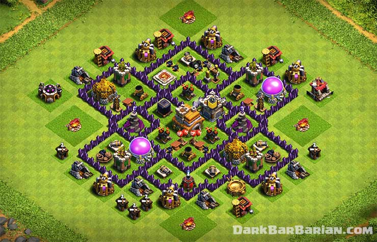 New Best Th7 Hybrid Trophy Defense Base Layout 2019 Town Hall 7 Hybrid Base Design Clash Of Clans Dark Barbarian