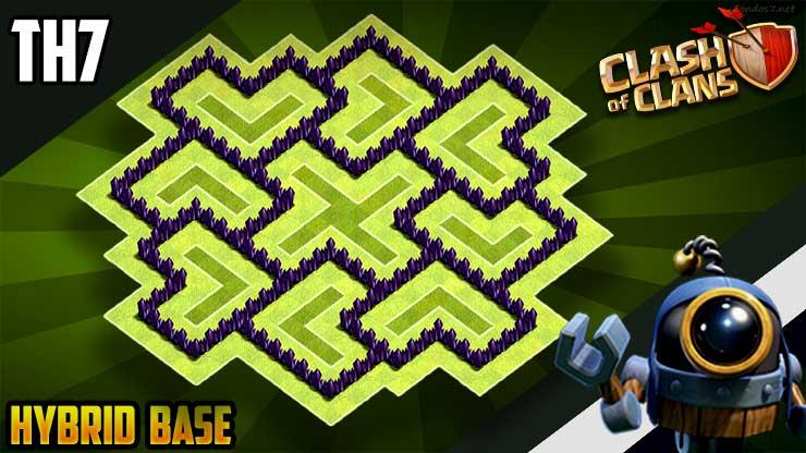 Best Th7 Hybrid Base Base Coc Th 7 11