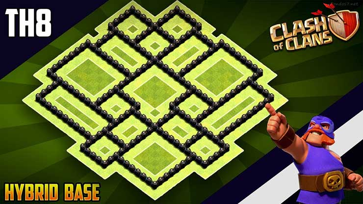 Base Coc Th 8 Trophy 2019 9