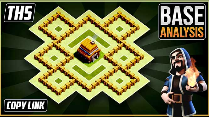 NEW Ultimate TH5 HYBRID/TROPHY[defense] Base 2020!! Town Hall 5 Hybrid Base  Design - Clash of Clans - Dark BarBarian