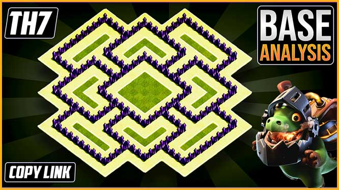 Town hall 7 (TH7) Hybrid/Trophy Base Layout 2020 clash of clans coc