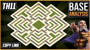 Town Hall 11 (TH11) Hybrid/Trophy Base layout coc 2020