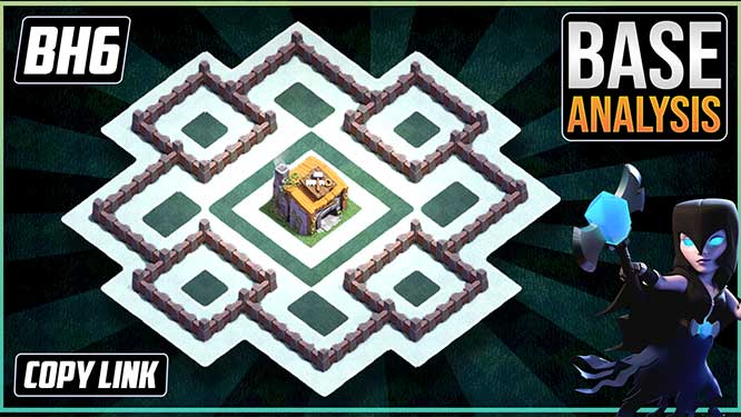 Builder Hall 6 (BH6) Trophy Base layout coc