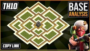 Town Hall 10 (TH10) Hybrid/Trophy base layout coc