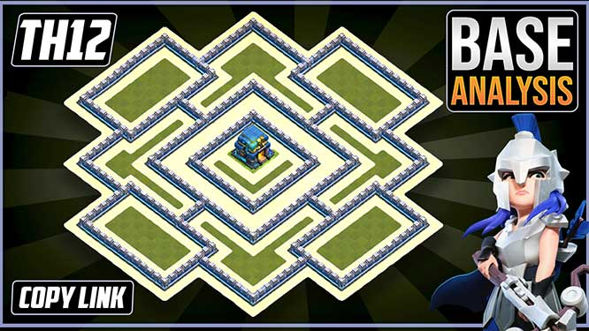 Town Hall 12 (TH12) Hybrid/Trophy Base layout coc