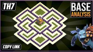 Town Hall 7 (TH7) Hybrid/Trophy Base layout coc with copy link