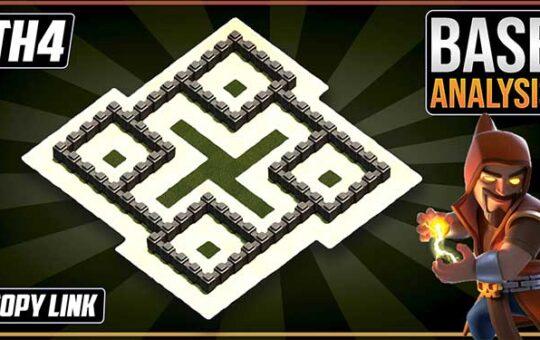 New BEAST TH4 HYBRID/TROPHY[defense] Base 2021!! Town Hall 4 Hybrid Base Design - Clash of Clans