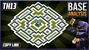 Town Hall 13 (TH13) Hybrid/Trophy Base Layout 2021