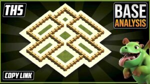 Town Hall 5 (TH5) Hybrid/Trophy Base layout coc 2021