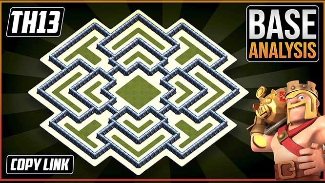 ULTIMATE BEST TH13 HYBRID/TROPHY Base 2021 | Town Hall 13 (TH13) Hybrid Base Design - Clash of Clans