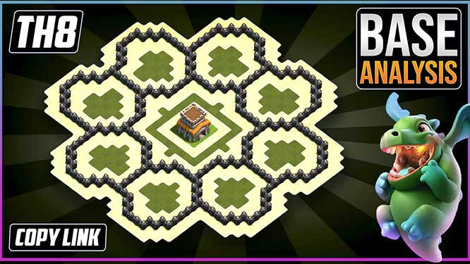 The ULTIMATE TH8 HYBRID/TROPHY[defense] Base 2021!! Town Hall 8 Hybrid Base Design - Clash of Clans