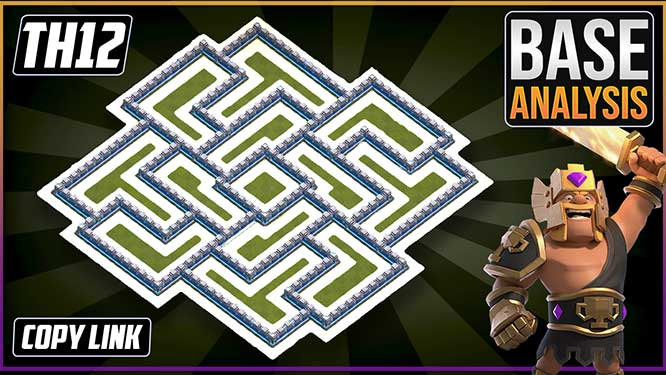 NEW BEST TH12 HYBRID/TROPHY Base 2021!! COC Town Hall 12 (TH12) Trophy Base Design - Clash of Clans